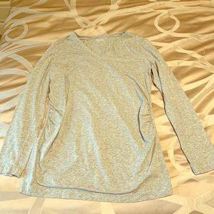 Gap Maternity V Neck Long Sleeve T-Shirt